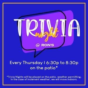 Trivia Night @ Ron's Original @ Ron's Original Bar & Grille